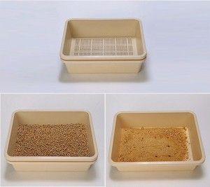 Now that I found my perfect litter (wood burning pellets). I knew I needed an appropriate litter box to match.