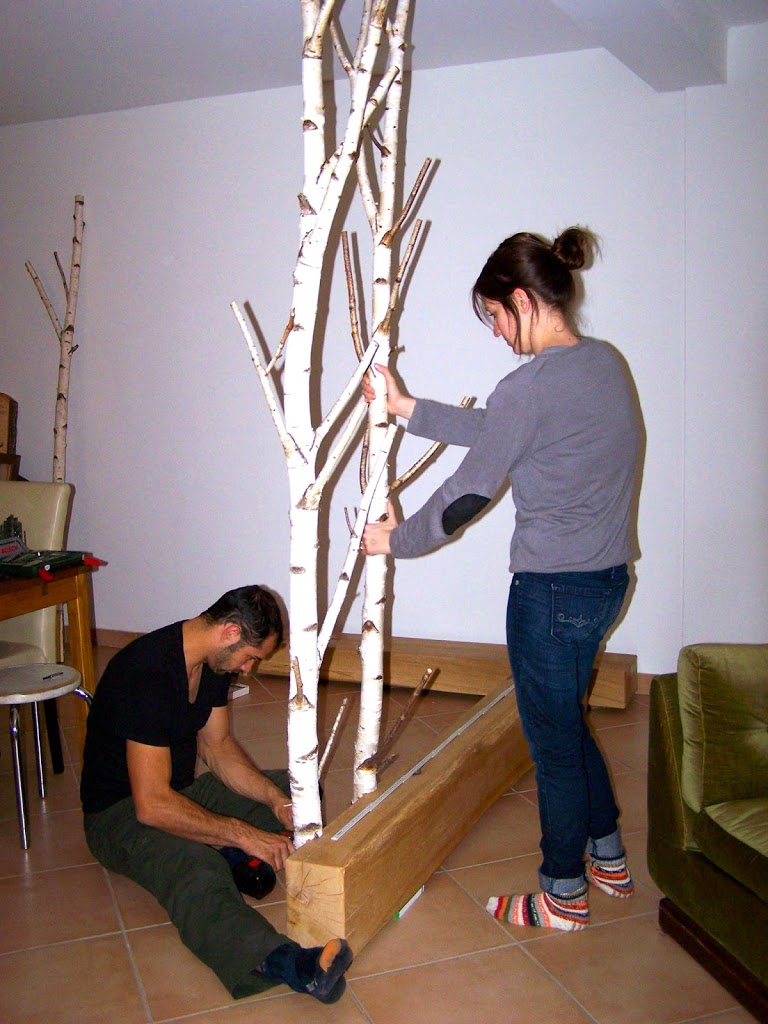 DIY tree room divider