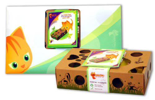 cardboard treat puzzle game