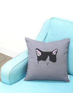 mi-ow cushion gifts for a cat lover