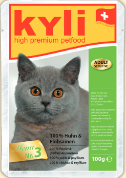 Kylie cat food menu number 3