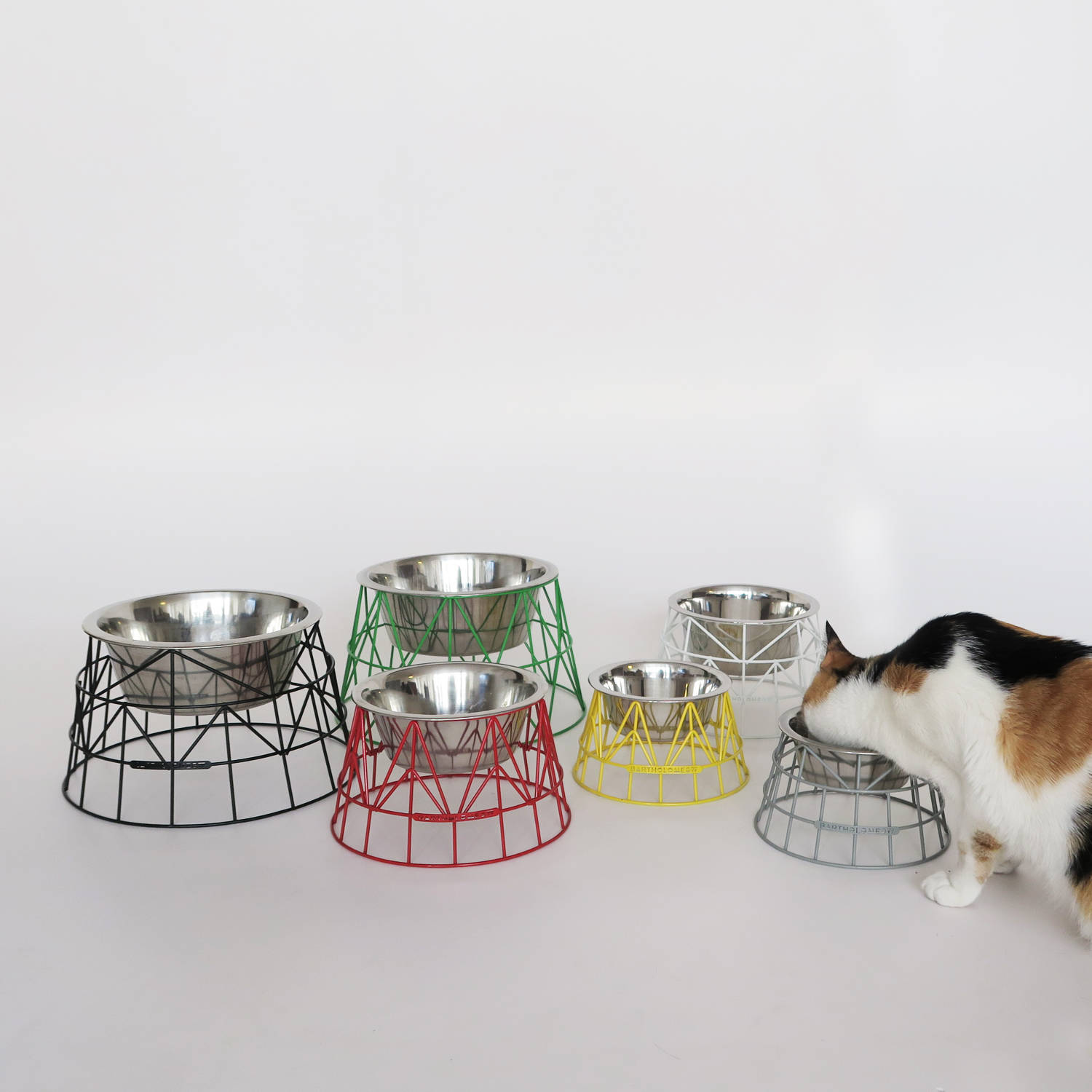 bartholomeow anselmo stylish pet food bowls